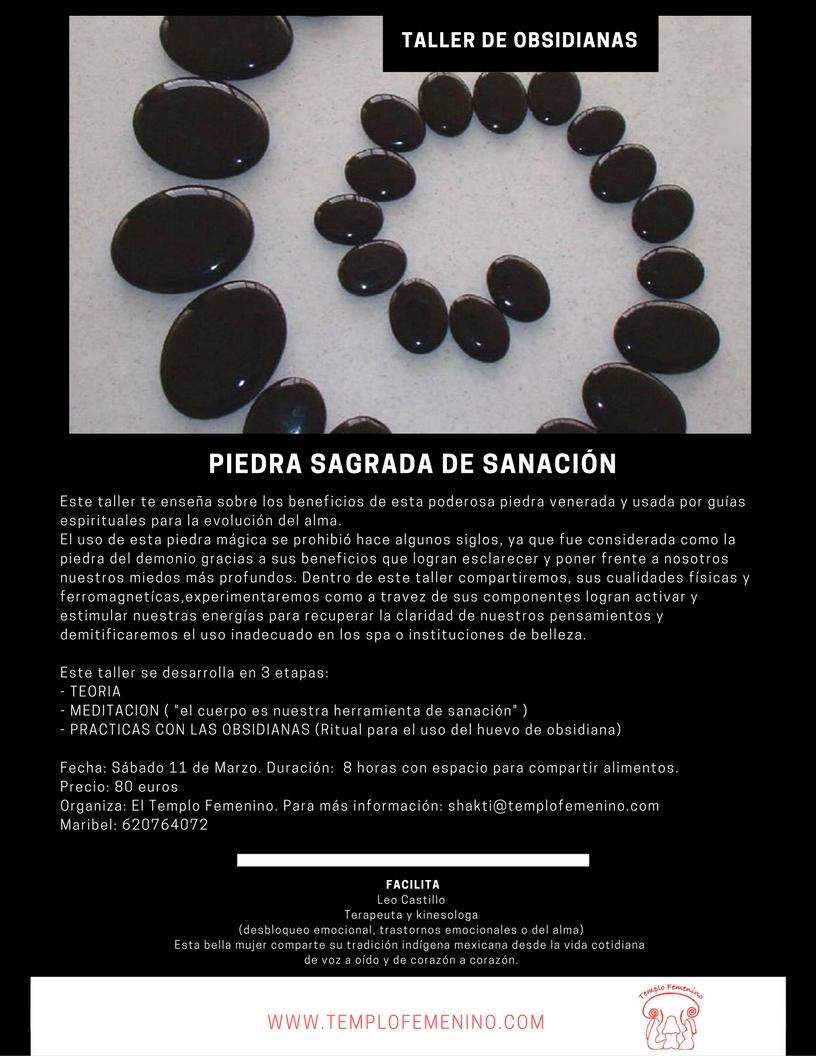 Taller de Obsidianas – Piedra Sagrada de Sanación
