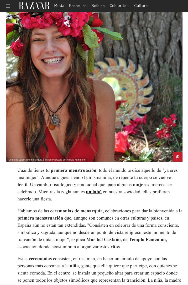 Entrevista acerca de las Ceremonias de Primera Menstruación