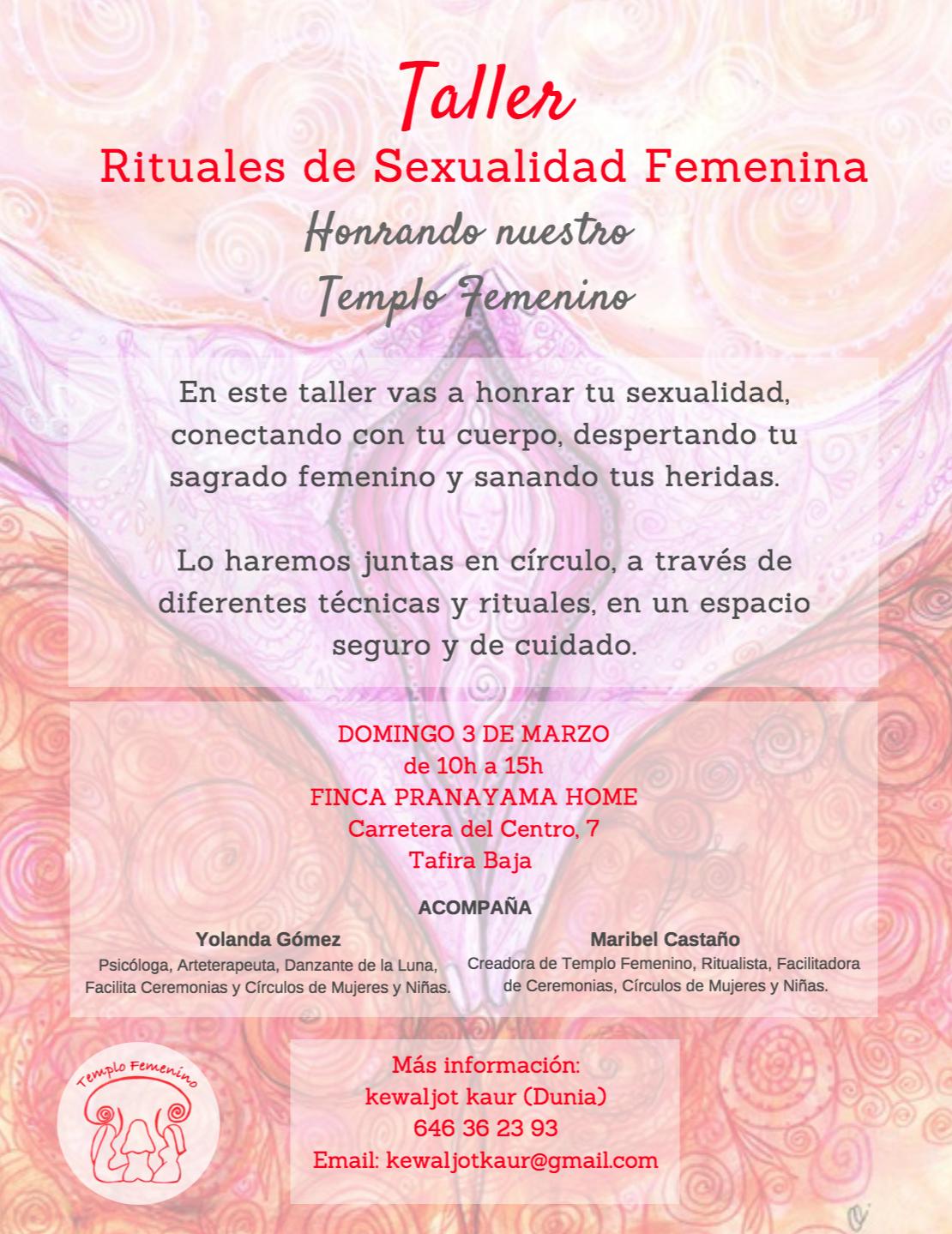 RITUALES DE SEXUALIDAD FEMENINA